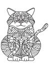 Målarbild fet katt