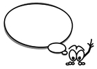 Målarbild figur med pratbubbla