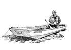 Målarbild fiskare i eka