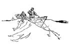 Målarbild fiskare
