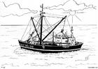Målarbild fiskebÃ¥t