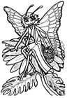 Målarbild Fjärilsprinsessa