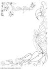 Målarbild Fjärilsteckning