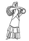 Målarbild flamencodansare