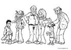 Målarbild flera generationer