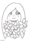 Målarbild Flicka med pÃ¥skliljor