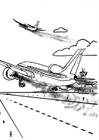 Målarbild flygplan - luftförorening