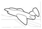 Målarbild flygplan