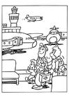 Målarbild flygplats