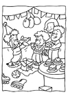 Målarbild födelsedagsfest