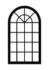 Målarbild fönster