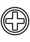 Målarbild första hjälpen icon