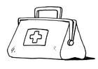 Målarbild första hjälpen - läkarväska