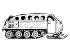 Målarbild fordon för snöröjning