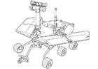 Målarbild fordon för utforskning av Mars