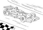 Målarbild Formel 1 race bil