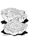 Målarbild fossil