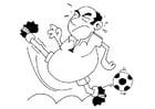 Målarbild fotboll