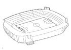 Målarbild fotbollsstadion