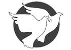 Målarbild fredsduvor