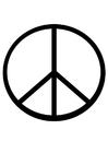 Målarbild fredstecken
