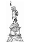 Målarbild Frihetsgudinnan i New York