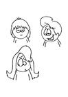 Målarbild frisyrer
