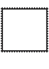 Målarbild fyrkantigt frimärke