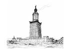 Målarbild fyrtornet i Alexandria