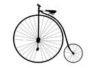 Målarbild gammaldags cykel