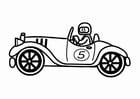 Målarbild gammaldags racerbil