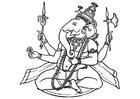 Målarbild Ganesha