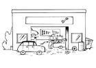 Målarbild garage - utan text