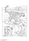 Målarbild gepard