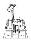 Målarbild giraff