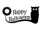 Målarbild Glad Halloween