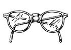 Målarbild glasögon