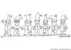Målarbild gnomer 1-7