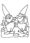 Målarbild gnomer