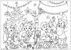Målarbild God Jul