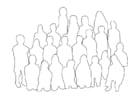 Målarbild grupp människor - klass