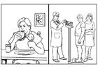 Målarbild hälsa och mat