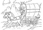 Målarbild häst och vagn