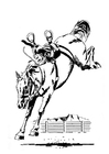 Målarbild hästar som sparkar bakut