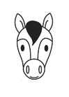 Målarbild hästhuvud
