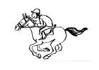 Målarbild hästkapplöpning