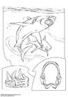 Målarbild haj