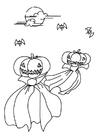 Målarbild halloween-spöken