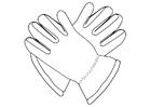 Målarbild handskar