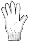 Målarbild handske